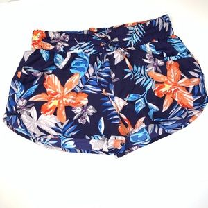 Tropical Light Weight Shorts With Pockets